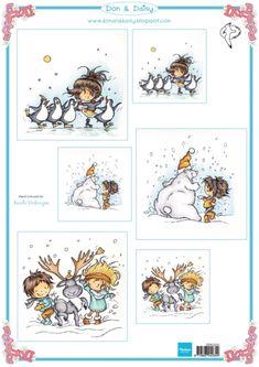 Ddk3220 Swinging in the snow - Don en Daisy - Knipvellen - Hobbynu.nl
