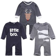 Boy's Long Sleeve Rompers