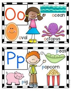 ALPHAPALOOZA MINI {ALPHABET} POSTERS FOR KINDERGARTEN AND FIRST GRADE. set of 27 for the word wall or alliteration games. $