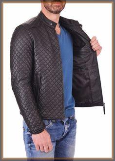 Men's Celebrity Genuine Lambskin Mens Stylish Rider Jacket slim fit Biker A48 #AriesLeathers #Motorcycle