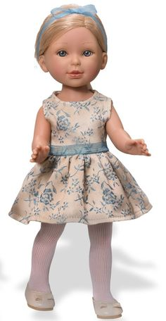 Paulina Doll (Blonde - Cream & Aqua Dress)