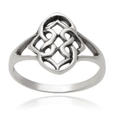 Journee Collection Sterling Silver Celtic Ring (Silver, 5), Women's