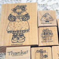 Stampin' Up Stamp Set, Retired Large and Rare Little  Patchwork Girl 1997
