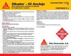 Etiqueta para Producto SIKA