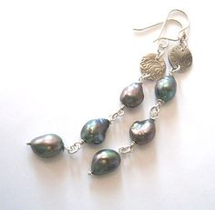 Baroque Pearl Earrings Eco Friendly Fine by SendingLoveGallery