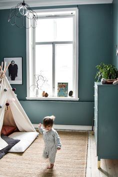 Acomix - Sadolin Cuprinol S Inspiration For Kids, Nursery Inspiration, Orange Rooms, Girls Bedroom, Childrens Bedroom, Kid Spaces, Kidsroom, Wall Colors, Colours