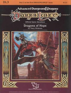 DL3 Dragons of Hope (1e) - Dragonlance | Book cover and interior art for Advanced Dungeons and Dragons 1.0 - Advanced Dungeons & Dragons, D&D, DND, AD&D, ADND, 1st Edition, 1st Ed., 1.0, 1E, OSRIC, OSR, Roleplaying Game, Role Playing Game, RPG, Wizards of the Coast, WotC, TSR Inc. | Create your own roleplaying game books w/ RPG Bard: www.rpgbard.com