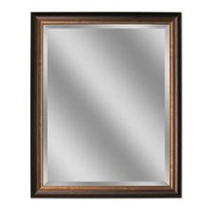 Deco Mirror 40 in. L x 28 in. W Framed Wall Mirror in Oil Rubbed Bronze 8922 at The Home Depot - Mobile