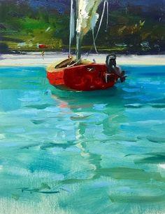 Gone Ashore - Oil.....Richard Robinson