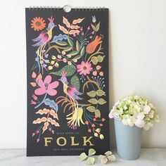 2016 Folk Illustrated Wall Calendar