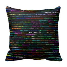 Maureen Text Design I Throw Pillow