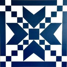 large navy and white barn quilt farmhouse decor Barn Quilt Designs, Barn Quilt Patterns, Quilting Designs, Painted Barn Quilts, Barn Signs, Barn Wood Crafts, Barn Art, Square Quilt, White Barn