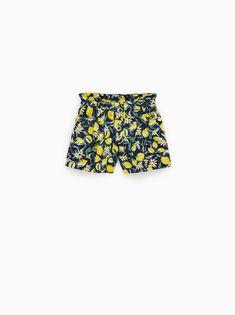 SHORTS-GIRL | 5 - 14 yrs-KIDS | ZARA United States Online Zara, Lemon Print, Zara Kids, Zara United States, Short Girls, Kids Girls, Kids Outfits, Kids Fashion, Unisex