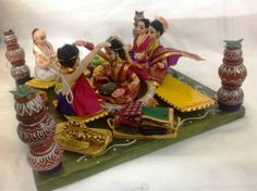 Wedding Dolls, Making Their Way Into Our Hearts And Our Weddings! Wedding Doll, Our Wedding, Wedding Events, Wedding Ideas, Miniature Crafts, Miniature Dolls, Indian Wedding Planning, Indian Weddings, Homemade Dolls