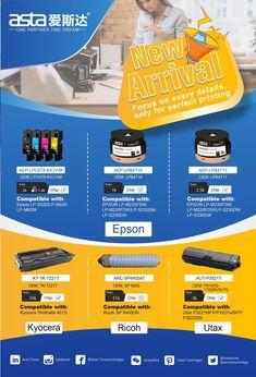 Six new models toner #epson #kyocera #ricoh #utax Welcome to contact Label Paper, Toner Cartridge, New Model, Epson, Printer, Models, Templates, Printers, Fashion Models