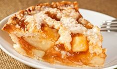 slice of delicious fresh baked rustic apple pie Köstliche Desserts, Delicious Desserts, Dessert Recipes, Apple Stock, Freshly Baked, Apple Pie, Macaroni And Cheese, Cravings, Sweet Tooth