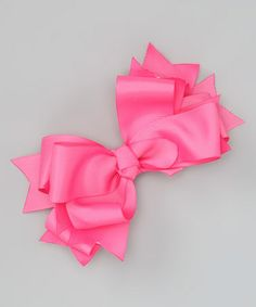 Take a look at this Hot Pink Knot Bow Clip by Payton Grace Bows on #zulily today!