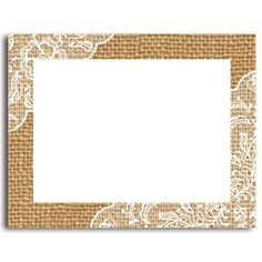 Stationery, Invitation Kits and Party Wedding Accessories 24 Printable Blank Note Cards with Envelopes, Burlap and Lace