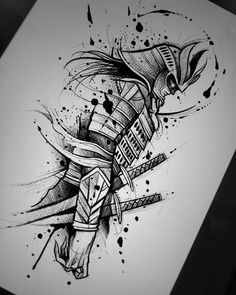 Djevel Diseño Reservado Not avaiable Agenda abierta Booking now ochrefoxtattoo samurai roman gladiator ninja warrior sketch Hai Tattoos, Neue Tattoos, Body Art Tattoos, Tattoos For Guys, Tatoos, Sketch Tattoo Design, Tattoo Sketches, Tattoo Drawings, Japan Tattoo Design