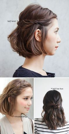 5 Ways to style shoulder-length hair … | Hair | P…