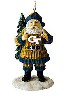 Georgia Tech Yellow Jackets Santa Ornament