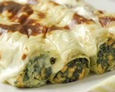 Cannellonis au saumon et aux épinards Ingrédients