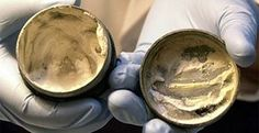 World's oldest cosmetic face cream - found in London, 2,000-year-old cream from Roman times with ancient finger marks in the lid.