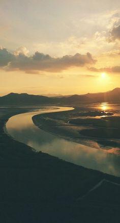 순천만 낙조~♥ Suncheon Bay sunset  by - @ELDK01