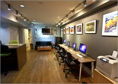 Boston: TSP Digital Lounge - Another solution for adding desks to our hallway