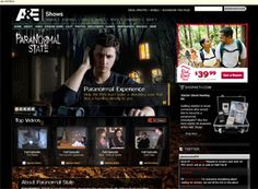 Anything with a TV show darn well better have a nice website. Paranormal State doesn't let you down. Great interactive features and a very crisp design. Great paranormal website design example.
