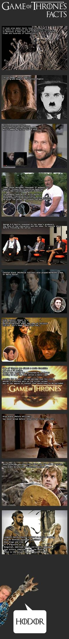 Game of Thrones Facts: Love the end...