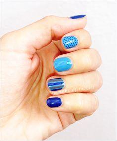 blue desing nail art