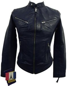 Ladies Real Leather Fitted Bikers Vintage Style Jacket (Small, Blue) Aviatrix http://www.amazon.co.uk/dp/B00IZJ1HGE/ref=cm_sw_r_pi_dp_9ajeub010DC7B