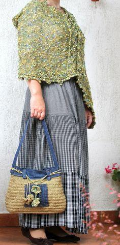 A táskához való felsővel Knit Crochet, Knitting, Skirts, Bags, Fashion, Handbags, Moda, Tricot, Breien