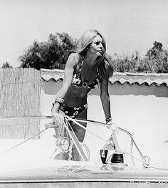 Brigitte Bardot in her Riva- St Tropez