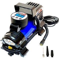 EPAuto DC Portable Air Compressor Pump, Digital Tire Inflator by 100 PSI - Automotive Parts and Accessories Tire Air Compressor, Best Portable Air Compressor, Buy Tires, Rv Parts And Accessories, Truck Tyres, Best Tyres, Flat Tire, Flashlight, Pumps
