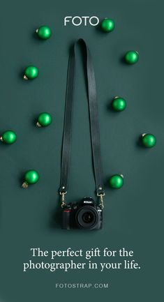 FOTO's pine green genuine all-leather designer camera strap can be personalized with a monogram or business logo, making this leather camera strap the perfect personalized gift. Leather Camera Strap, Camera Straps, Personalized Products, Personalized Gifts, Gifts For Photographers, Business Logo, Pebbled Leather, Gift Guide, Hooks