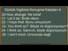 English Sentences, English Vocabulary Words, English Phrases, English Grammar, Teaching English, English Language, Learn English Kid, Improve English, Learn Turkish Language
