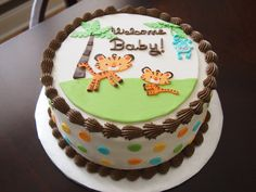 - fisher price rainforest jungle safari baby shower cake