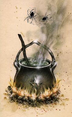 "Magick Wicca Witch Witchcraft:  ""Set Me Free - Cauldron 1, "" by Victoria Frances."