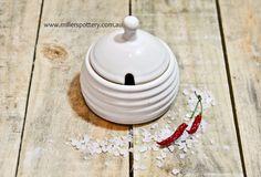 Australian handmade ceramic honey pot by www.millerspottery.com