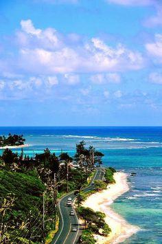 Wanderlust :: Travel the World :: Seek Adventure :: Free your Wild :: Photography & Inspiration :: See more Untamed Beach + Island + Mountain Destinations :: Kamehameha Highway, Oahu, Hawaii. Hawaii Vacation, Hawaii Travel, Dream Vacations, Vacation Spots, Travel Pro, Mexico Travel, Spain Travel, Wanderlust Travel, Kauai