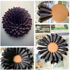 ¿Que tal esta idea? Funcional para decorar lo que quieras. 1) Recorta la cartulina en cuadrados. 2) Forma un espiral con la cartulina y pegalo sobre el círculo de cartón. 3)  Continua haciendolo hasta llenar todo el círculo de cartón. 4) sobre los cilindros de papel pega de forma intercalada otros cilindros hasta llenar toda la pieza. Y esta listo, excelente para rellenar espacios y decorar ambientes. #gspve #maracaibo #craft #idea #diy #manualidad