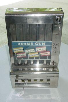Vintage Mills Automatic Tab Penny Gum Vending Machine