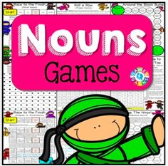 Nouns Games contains 13 fun and engaging printable board games. These Nouns Games are so simple to use and require very minimal prep. Adjective Games, Verb Games, Grammar Games, Subject And Predicate Games, Concrete And Abstract Nouns, Parts Of Speech Games, Types Of Verbs, Common And Proper Nouns, Possessive Nouns