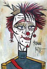 Auction, Bernard Buffet signature, watercolor painting, Picasso era , COA