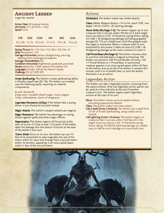 DnD 5e Homebrew — Witcher Monsters by Regerem