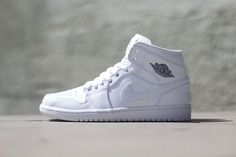 huge discount 36459 86050 Air Jordan 1 Mid White White Nike Outfits, Jordan Outfits, Work Outfits,