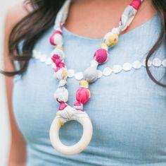 Breastfeeding Necklace - Platinum Rose Ring
