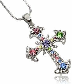 Bonyak Jewelry 18 Inch Rhodium Plated Necklace w// 6mm Red July Birth Month Stone Beads and Saint John Paul II Charm
